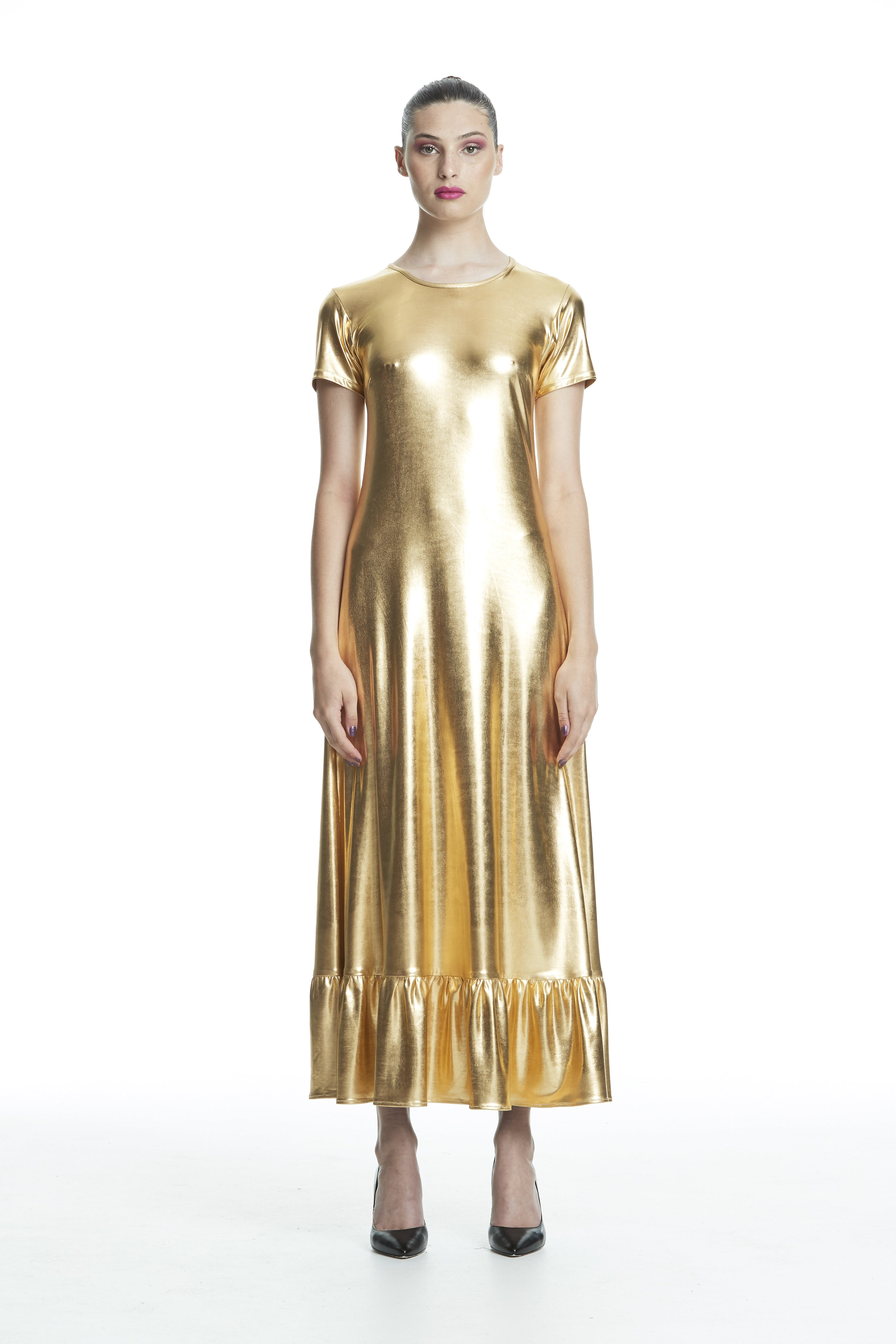 WORLD 4469 Cool Breeze Dress Gold Metallic