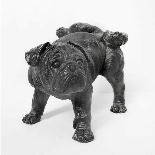 Peeing Pug Sculpture/ Black