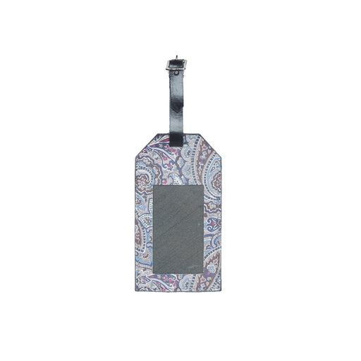 WORLD Liberty Leather Luggage Tag -  Paisley