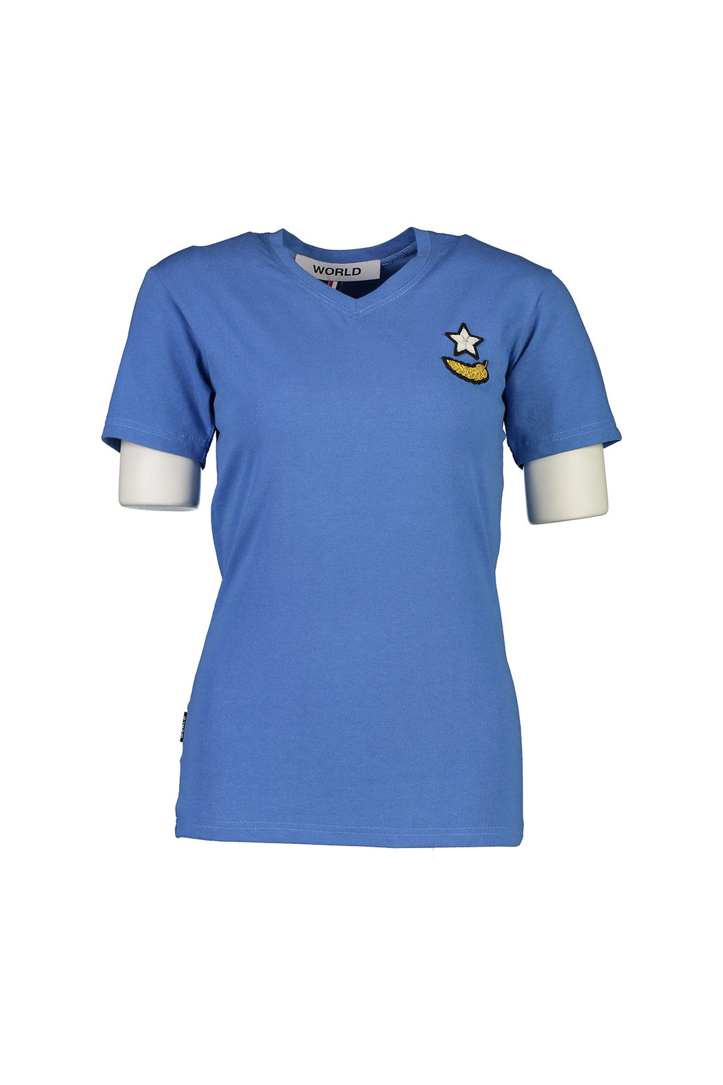 WORLD 4527 Amiss V-neck T (Unisex) Blue