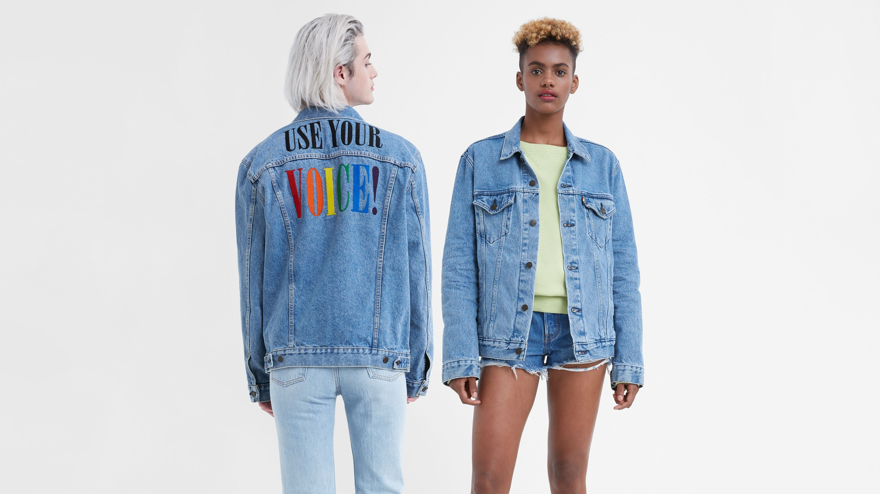 Levi's Trucker Jacket PRIDE Stonewash Denim Graphic