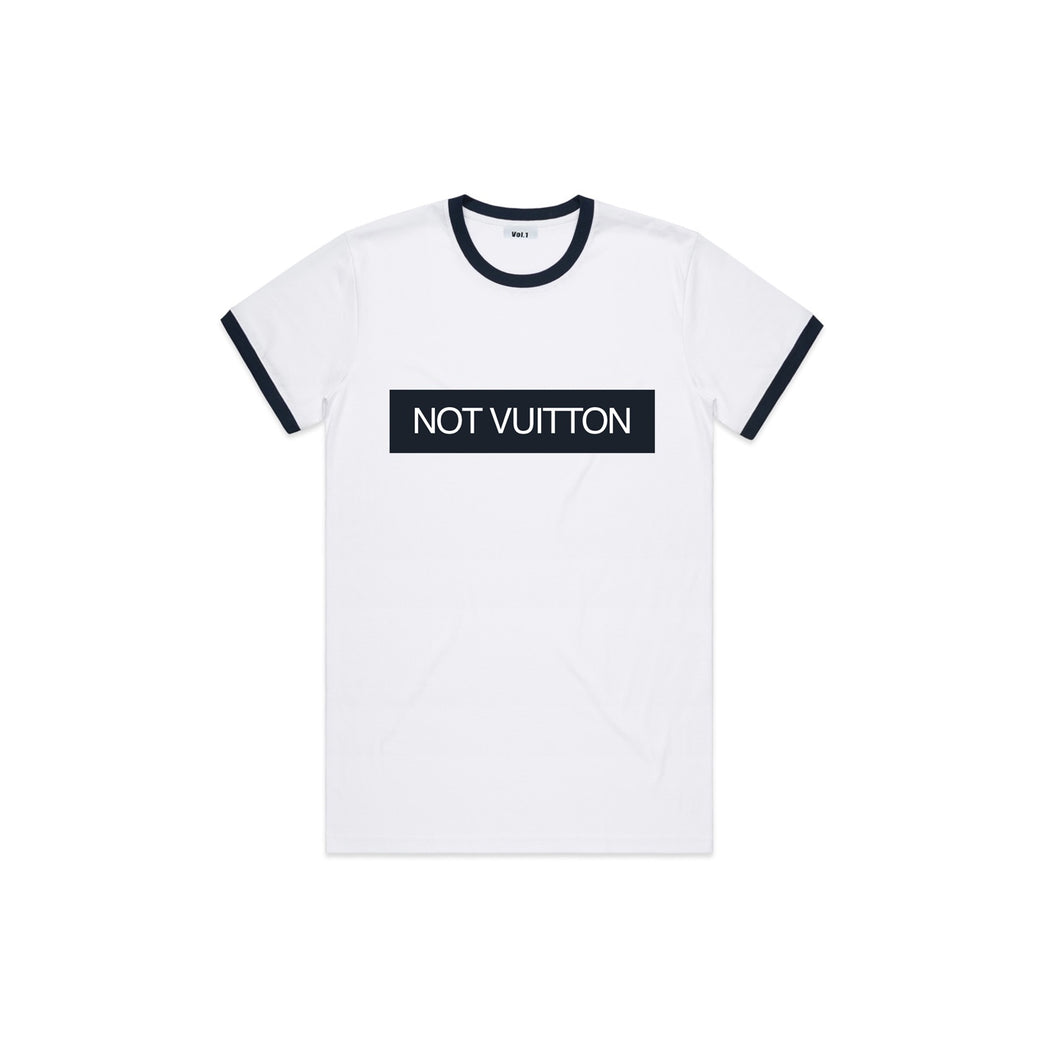 Vol.1 Not Vuitton Ringer T Navyish & Whiteish - Navy