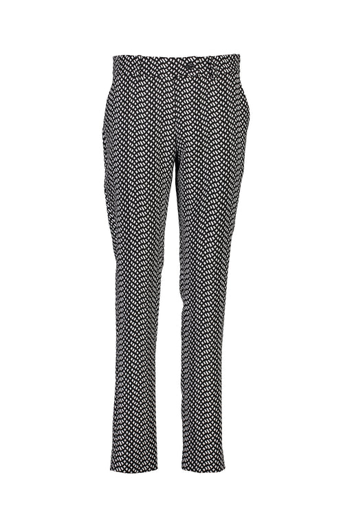WORLD 4517 Two Wrongs Trouser Black White Mosaic