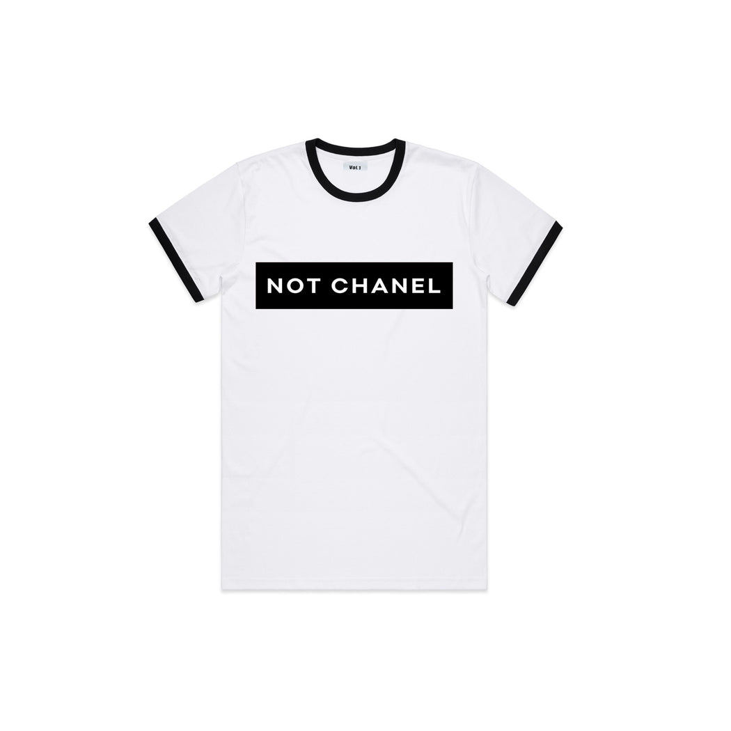 Vol.1 Not Chanel T Blackish & Whiteish - Unisex