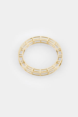 Vera Xane Small Cage Bangle Gold
