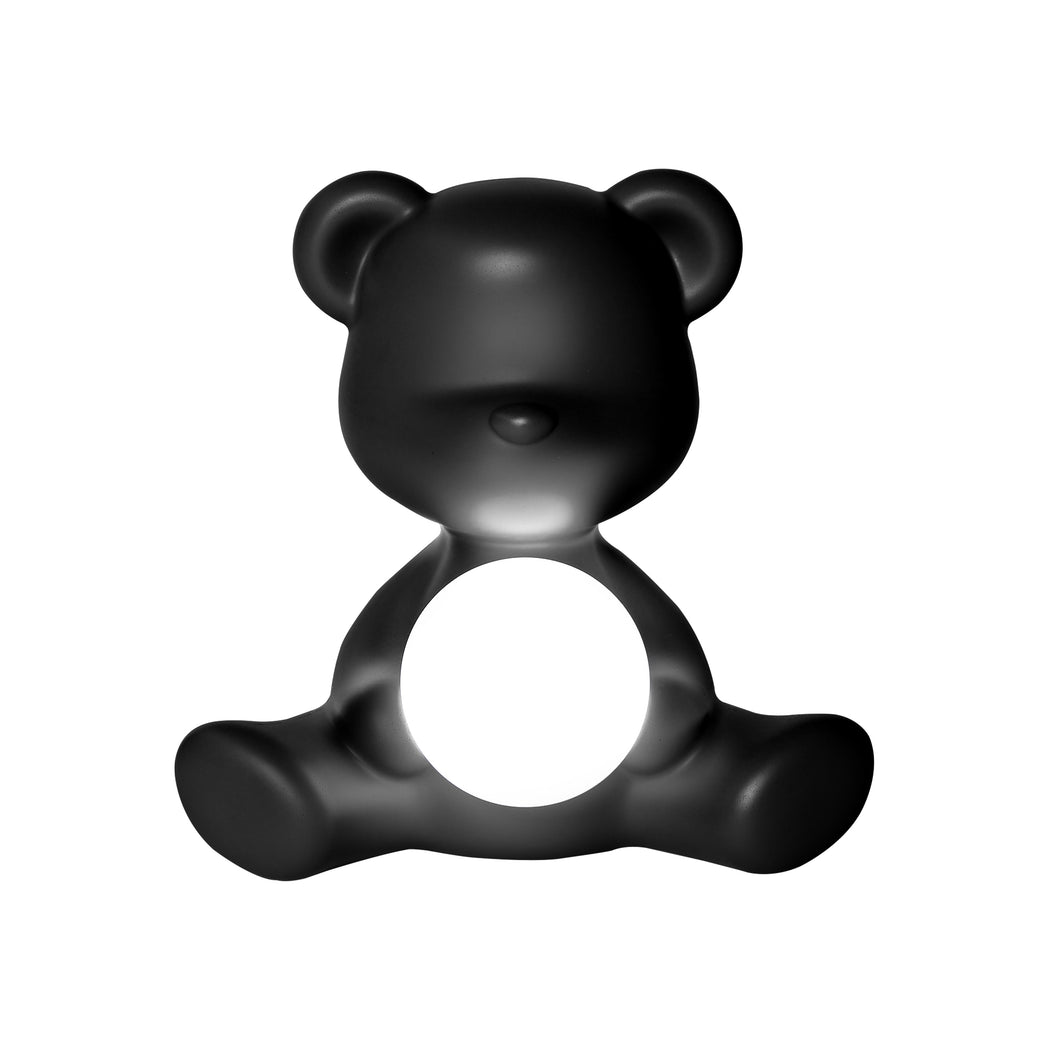 Qeeboo Teddy Girl Rechargeable Lamp Black