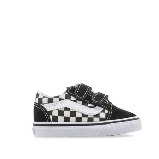 Vans Kids Old Skool Black/White Check Velcro