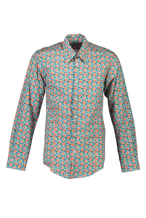 WORLDman 4290 Romeo Shirt Green Floral
