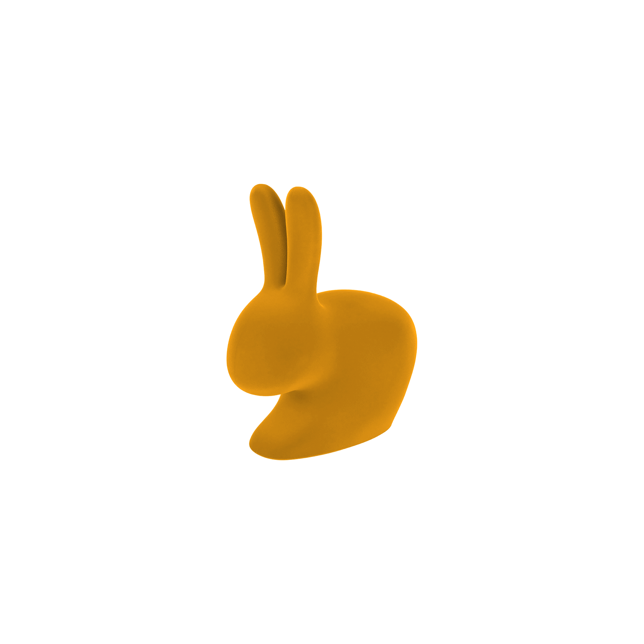 Qeeboo XS Rabbit Bookend / Doorstopper Velvet Finish Gold