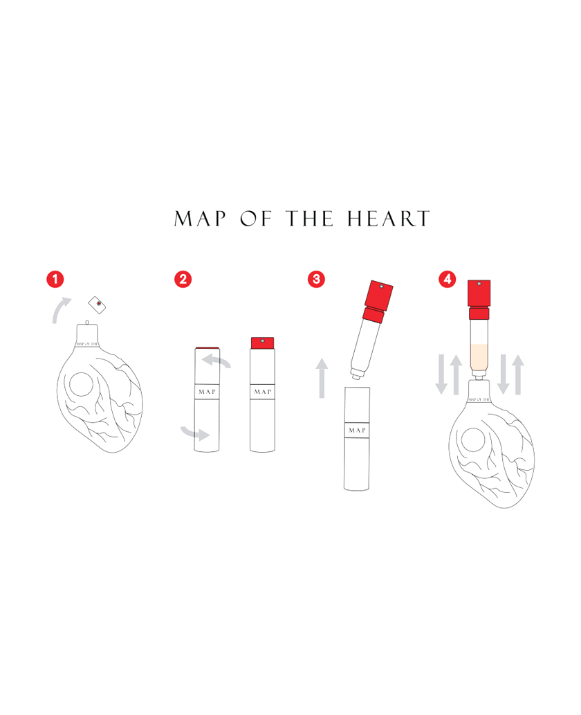 Map of the Heart Refillable Travel Vial
