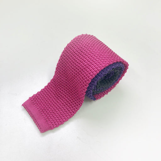 WORLD Knit Tie - Silk Pink Purple Grey