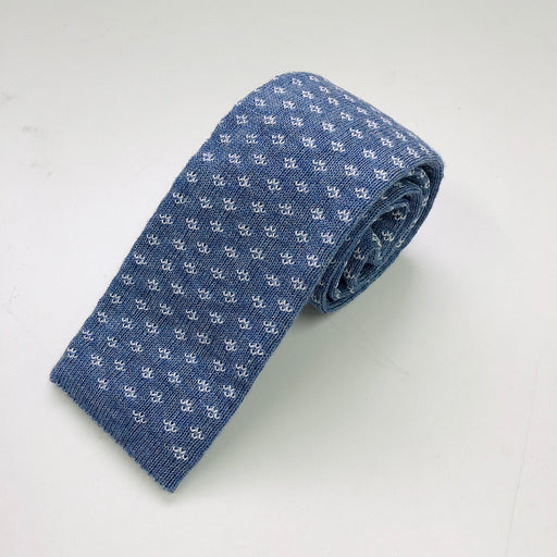 WORLD Knit Tie - Light Blue Pattern