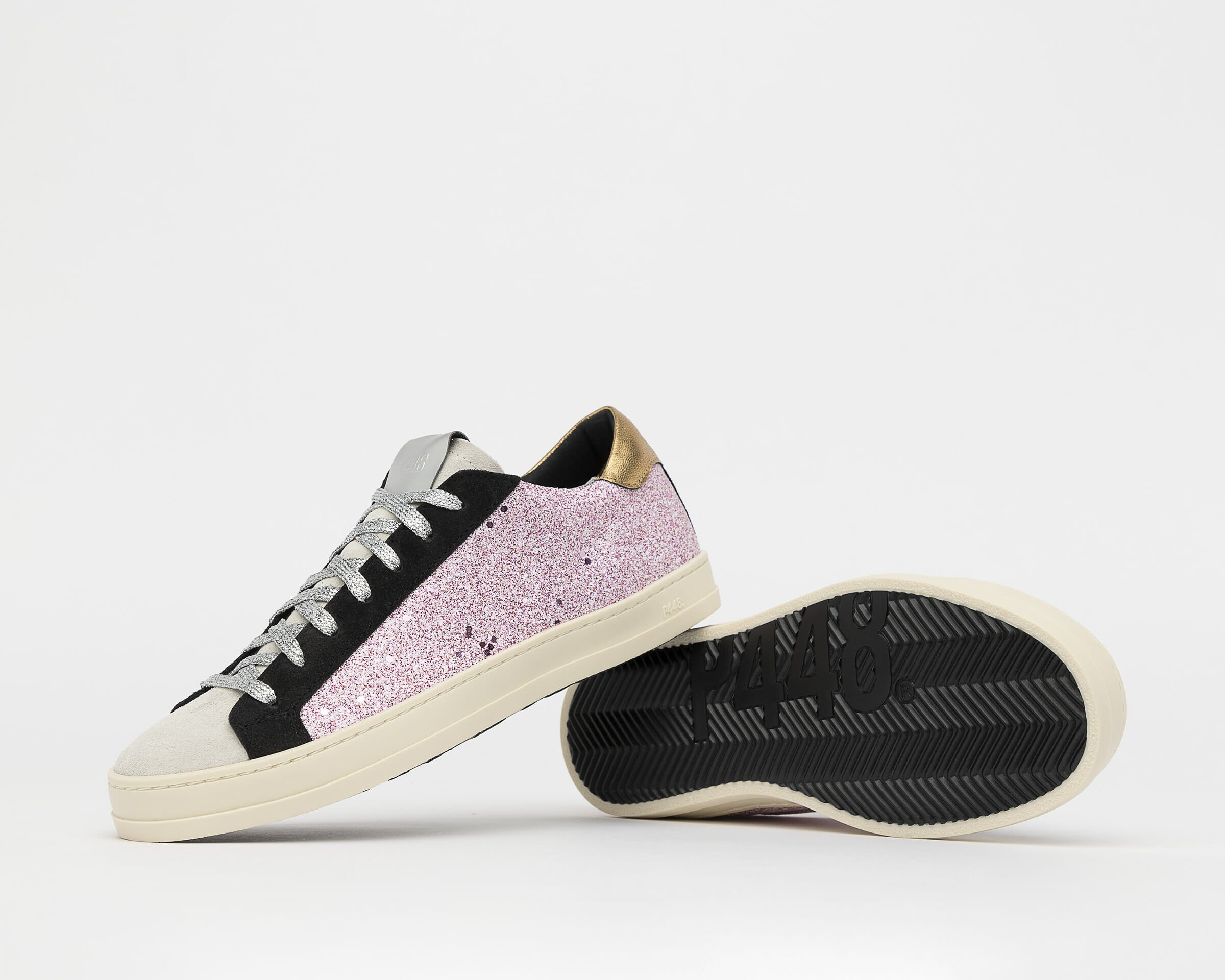 P448 John Holographic Glitter Pink Sneakers