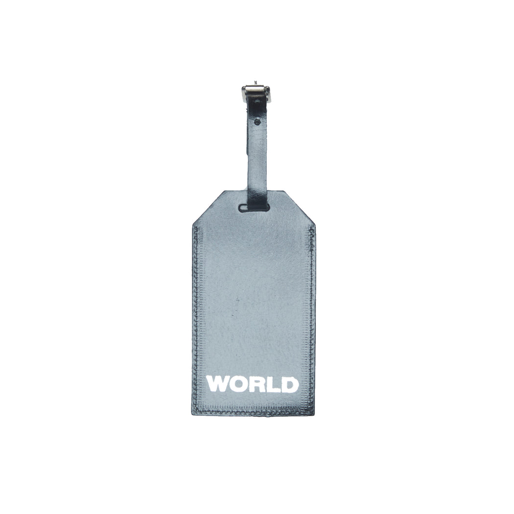 WORLD Liberty Leather Luggage Tag - Fish