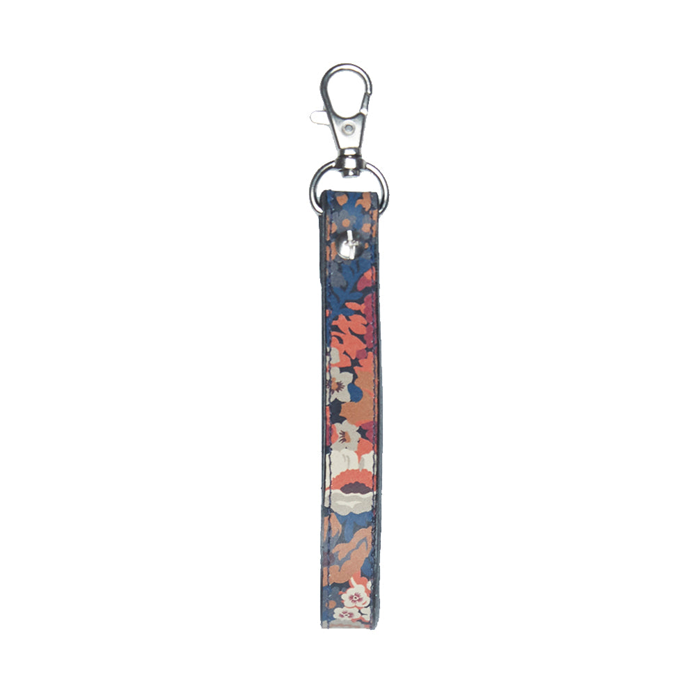 WORLD Liberty Leather Key Fob - Floral