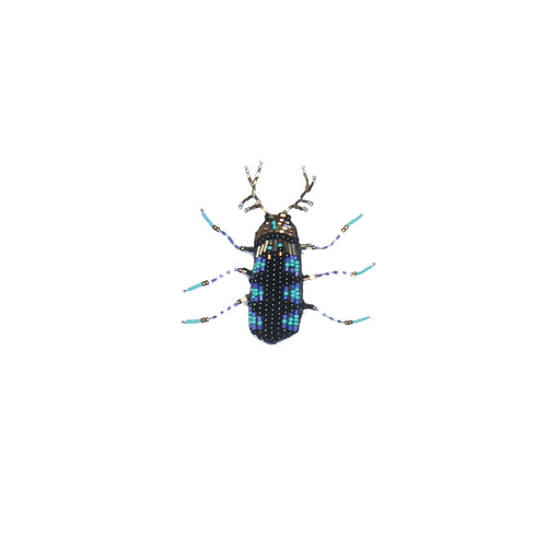 WORLD Small Bug Brooch - Blue
