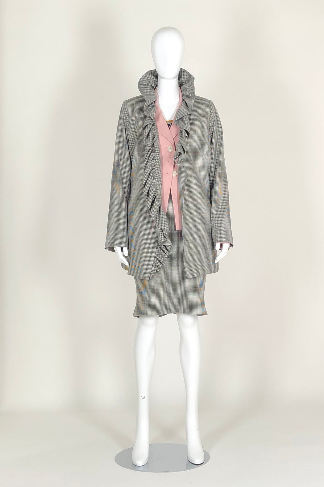 WORLD 4593 Mawkishness Coat Houndstooth