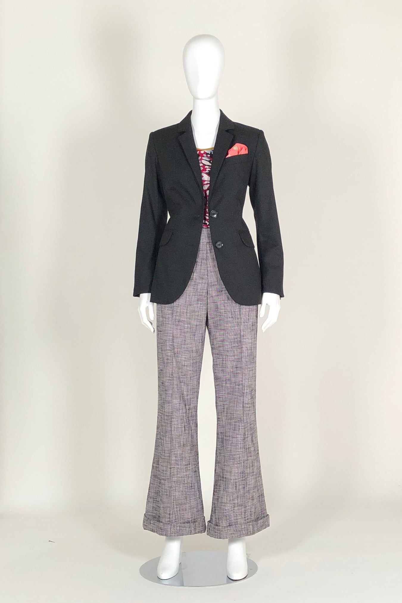 WORLD 4583 Nostalgia Trouser Pink Tweed