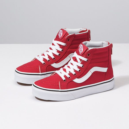 Vans Kids SK8-HI ZIP Red & White