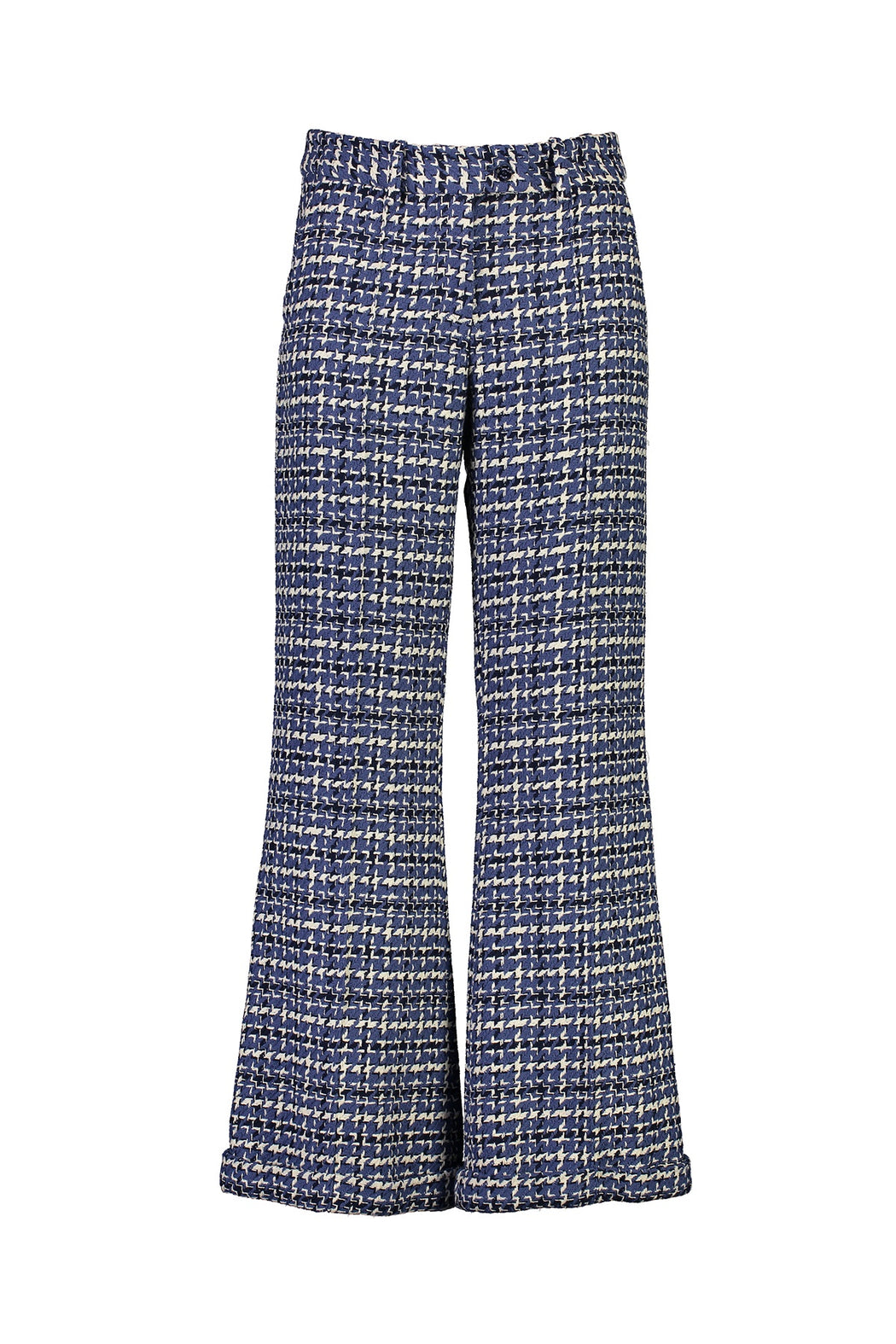 WORLD 4520 Make it Right Trouser Blue Houndstooth