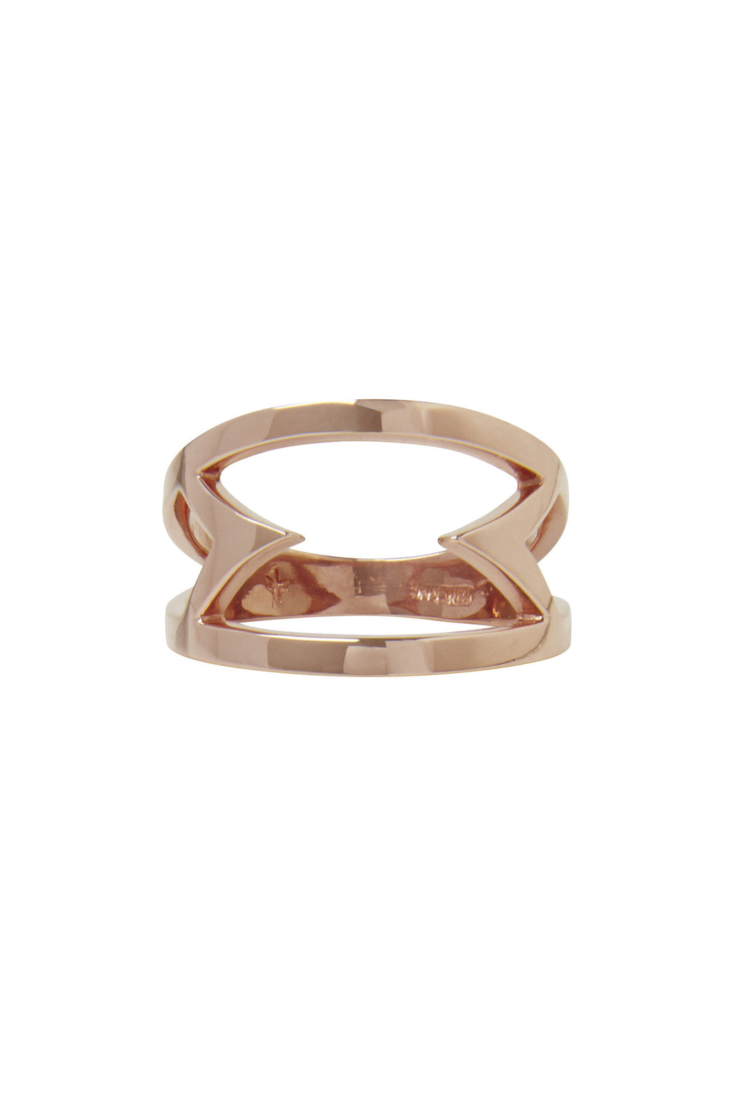 Vera Xane Inward Points Ring Rose Gold