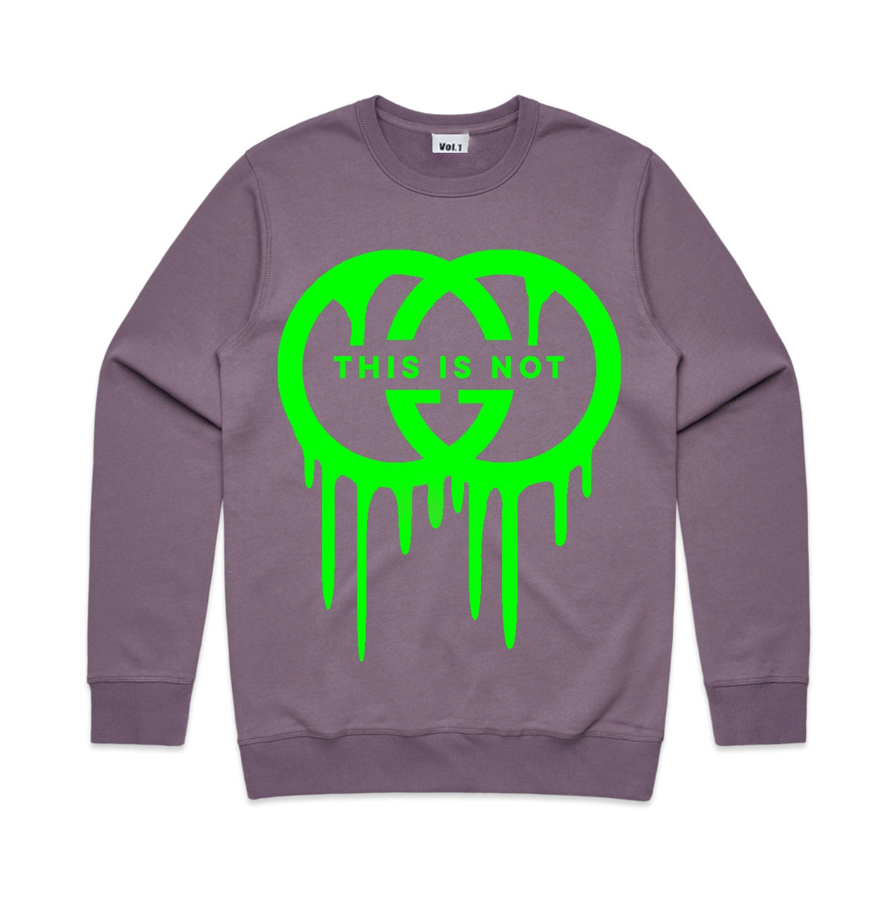 Vol.1 This Is Not GG Crew Neck Jumper Mauveish - Unisex