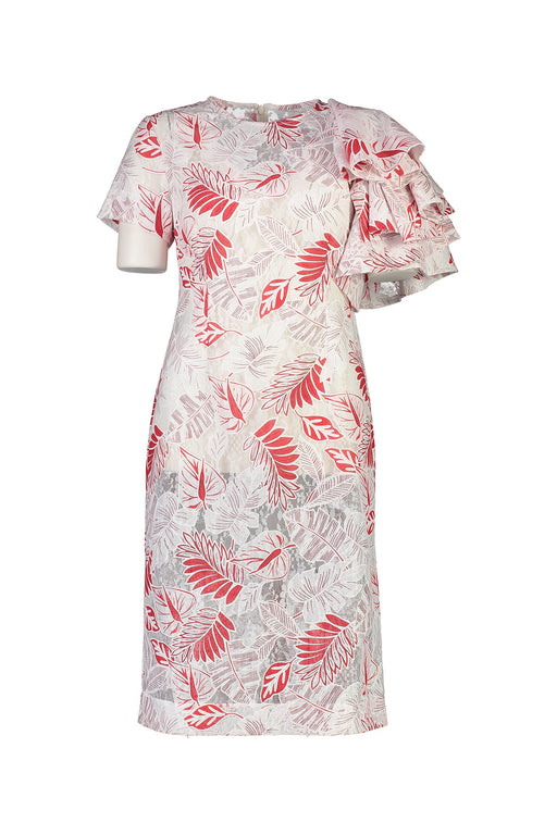 WORLD 4533 Righteous Dress Red Floral