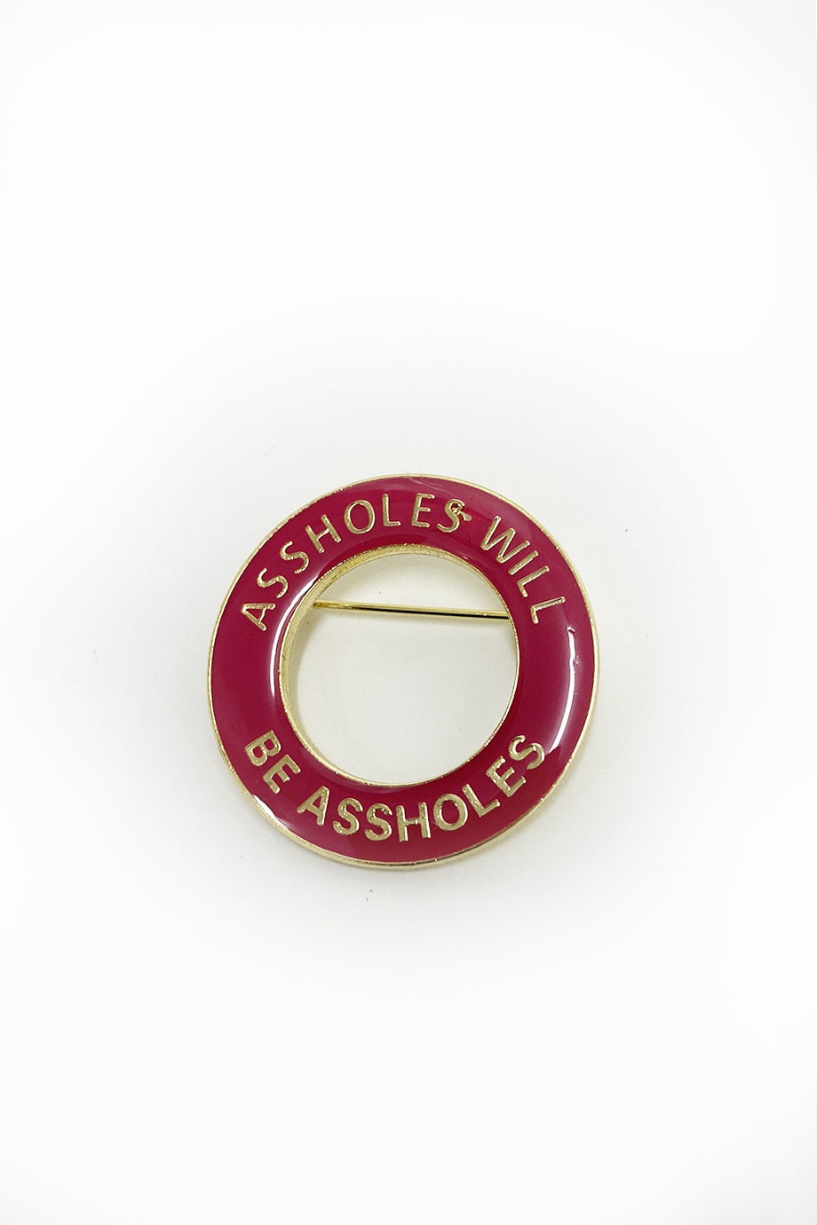 WORLD Enamel Badge - ASSHOLE