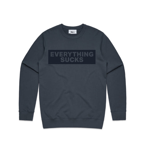 Vol.1 Everything Sucks Crew New Jumper Navyish - Unisex