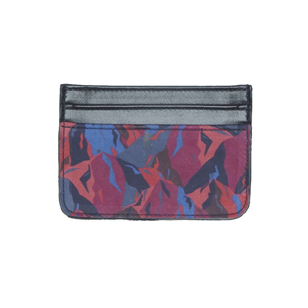 WORLD Liberty Leather Card Holder - Abstract Mountains