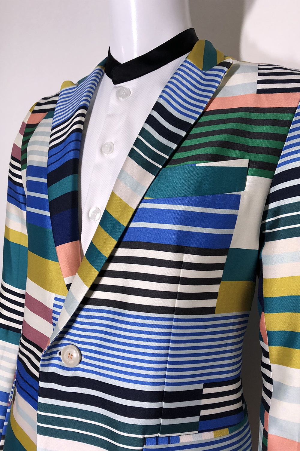 WORLDman 4663 Eager Blazer Multi Stripe