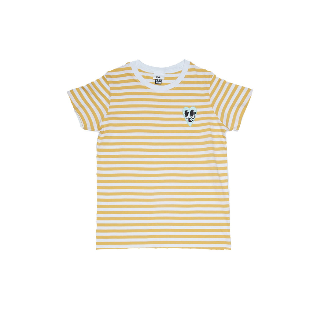 Vol.1 Green Face Yellow Stripe T - Unisex