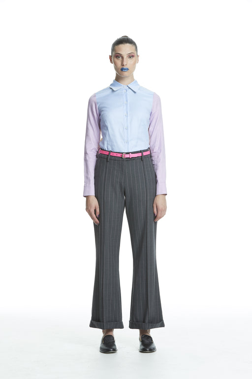 WORLD 4453 The Advertiser Trouser Charcoal Stripe