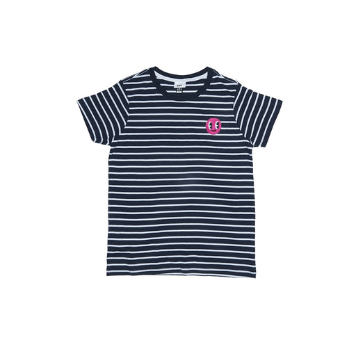 Vol.1 Pink Face Navy Stripe T - Unisex
