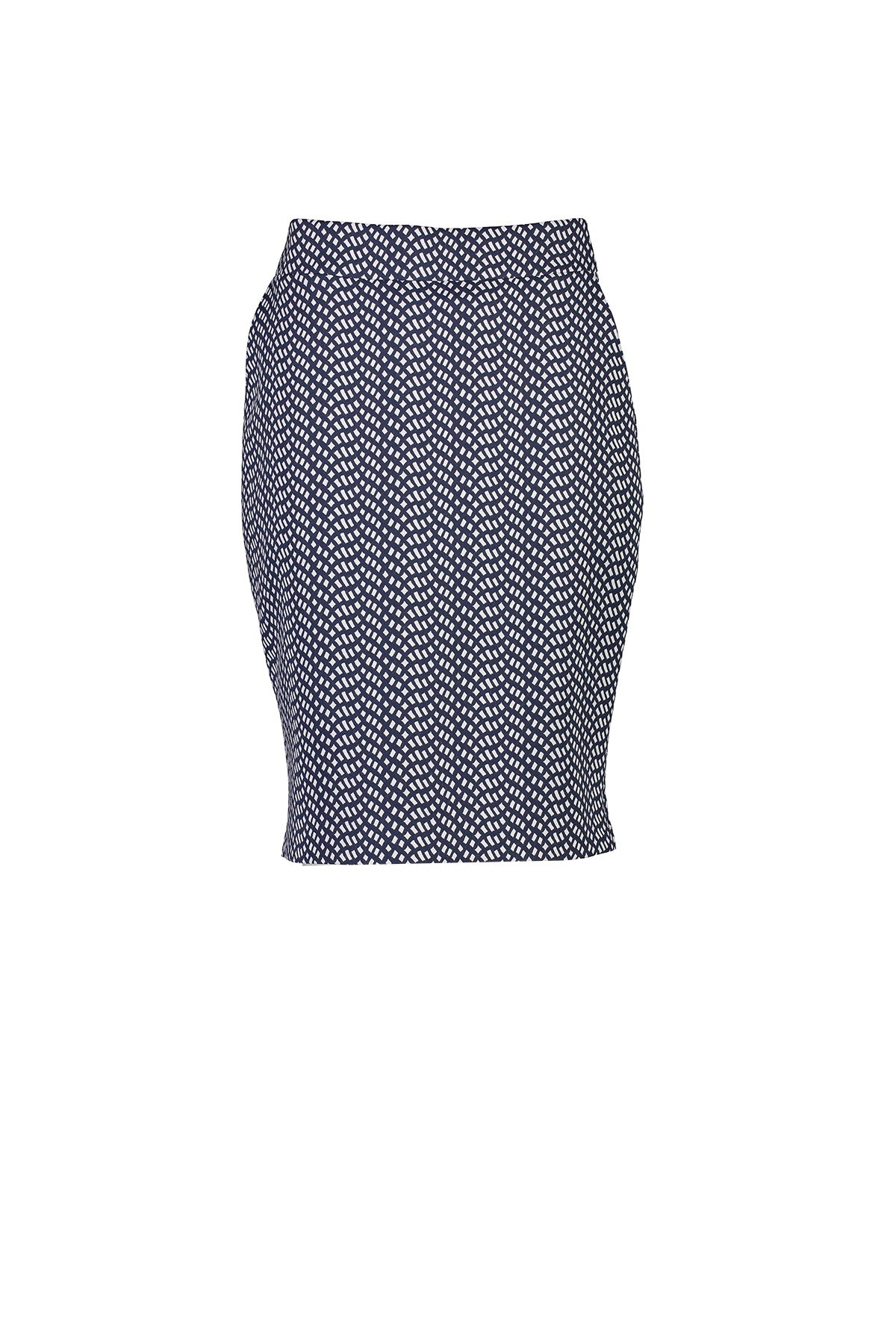 WORLD 4518 Two Wrongs Skirt Navy White Mosaic