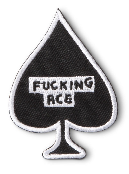 F*cking Ace Iron-On Patch x David Shrigley