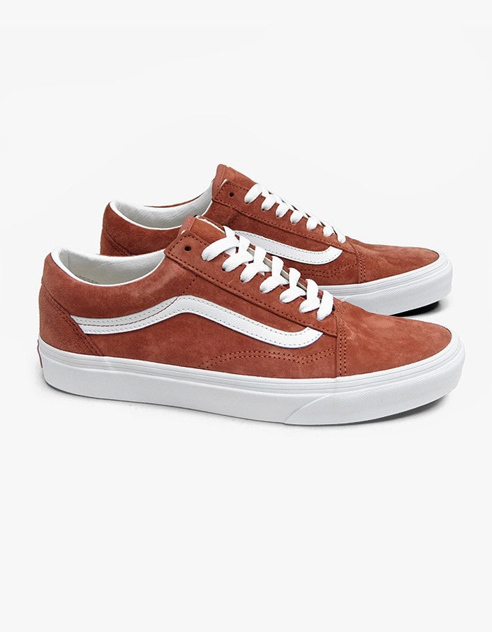 Vans Old Skool Brick & White Pig Suede