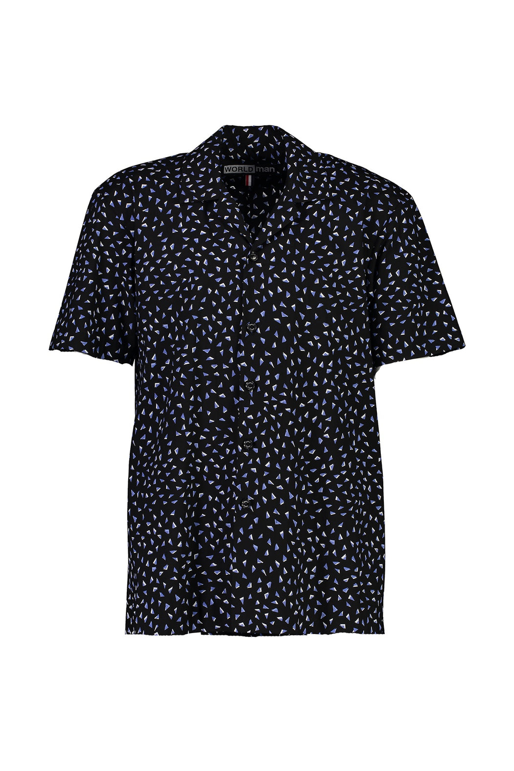 WORLDman 4565 False S/S Shirt Black