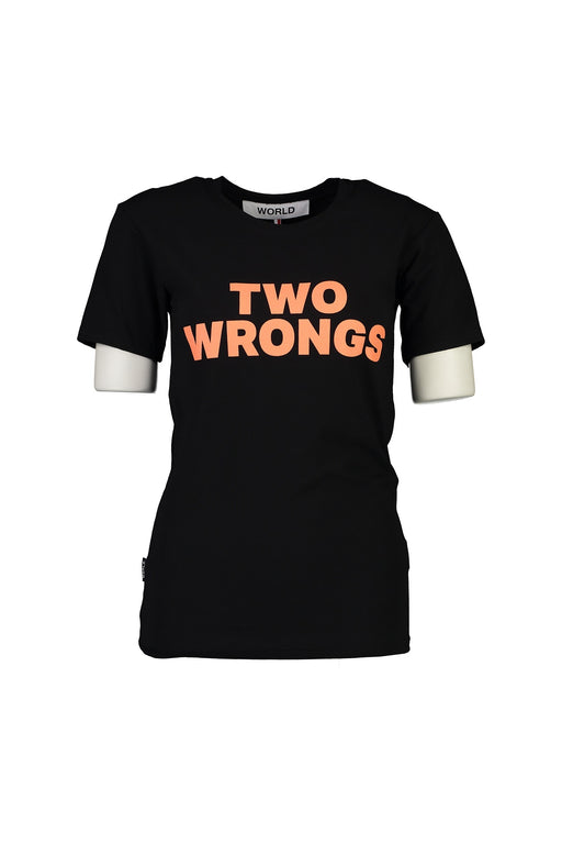 WORLD 4501 Two Wrongs T (Unisex) Black