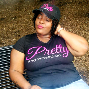 Pretty And Prayed Up Dad Hat- DISTRESSED BLACK - Pretty and Prayed Up