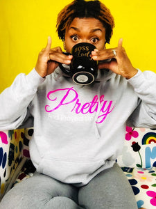 Pretty And Prayed Up Hoodie - GRAY - Pretty and Prayed Up
