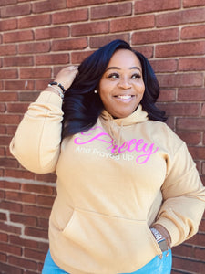 Pretty And Prayed Up Signature Hoodie- Camel