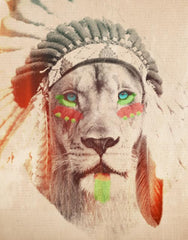 Lion with Headdress