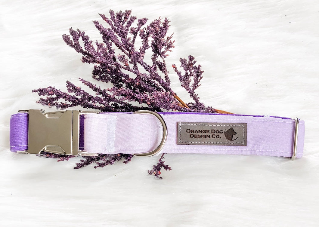 Purple Tonal Dog Collar