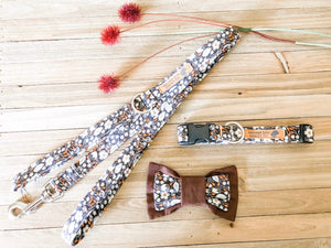 Vintage Floral Dog Collar & Leash Set
