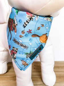 Winter Woodland Animals Dog Bandanna