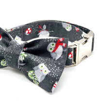 Load image into Gallery viewer, Winter Woodland Dog Collar w/Bow