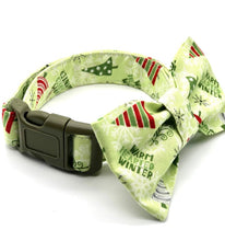 Load image into Gallery viewer, Christmas Trees Dog Collar w/Bow