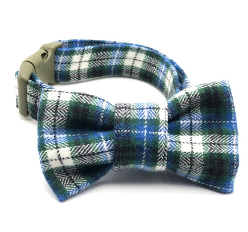 Blue & Green Multi Plaid Collar