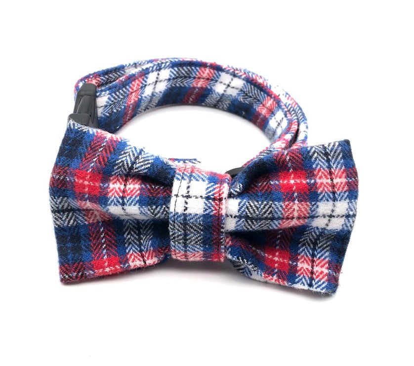Pink & Blue Multi Plaid Collar